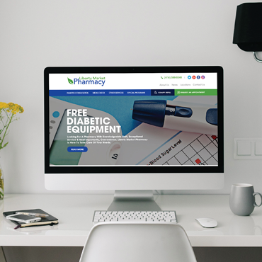 Eccentric Web Development Portfolio - Liberty Market Pharmacy