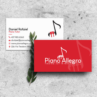 Eccentric Graphic Design Portfolio -  Piano Allegro