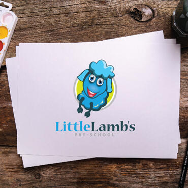 Eccentric Logo Design Portfolio -  Little lamb Pre School